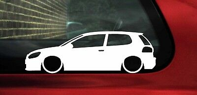 2x LOW vw Golf Mk6 (a6) 3-door GTI / GT / GTD silhouette outline stickers, Decal