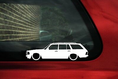 2x LOW Classic Mercedes-Benz 280TE W123 / W123T estate wagon outline stickers
