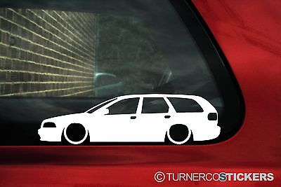 2x LOW Volvo V40 (1st gen) estate Wagon outline,silhouette stickers