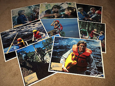 WHITE WATER SUMMER Lobby Card Movie Posters 1987 Kevin Bacon Rafting Adventure