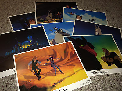 QUEST FOR CAMELOT 1998 Movie Poster Lobby Card Set Animation WB Cartoon