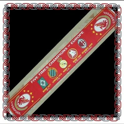 Liverpool Champions of Europe Badge Scarf