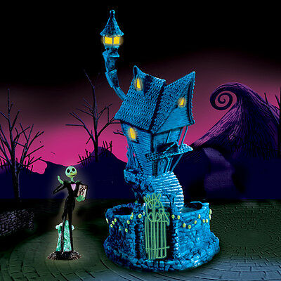 Jack Skellington House Nightmare Before Christmas Village Comes with Black Light