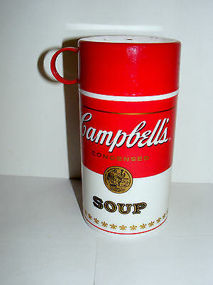 """CAMPBELL'S SOUP CAN-TAINER THERMOS 11.5 oz  6 1/2"""" TALL"""