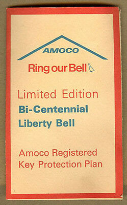1976 AMOCO OIL, Bi-Centennial Liberty Bell, Registered Brass KEY CHAIN
