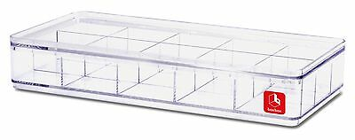 Stackable Lego Minifigures Storage Box Clear Plastic Display Case - 15 Dividers