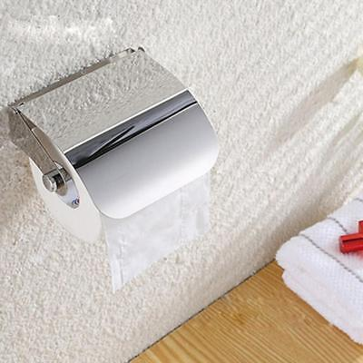 Wall Mounted Bathroom Stainless Steel Toilet Paper Holder Roll Tissue Rack