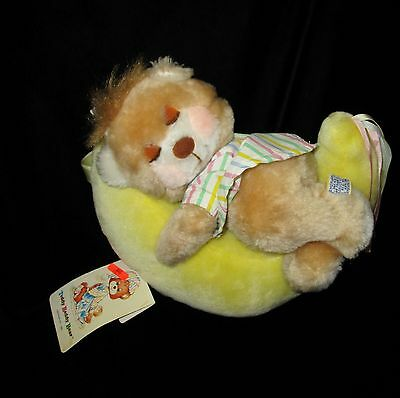 Teddy Beddy Bear On Moon Plush Tags Dakin Morgan 1983 Stuffed Vintage 10""