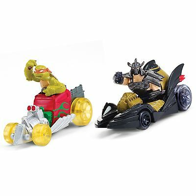 TMNT T-Machines-Mikey in Hot Rod and Shredder in Shreddermobile