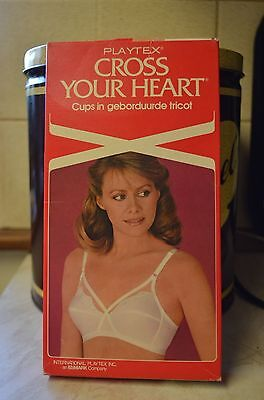 34C Vintage Playtex Cross Your Heart  Bra  NEW BOXED NOS NEW OLD STOCK 4502