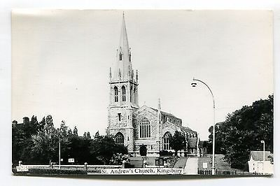 Kingsbury - St Andrew's Church - c1960's Middlesex real photo postcard