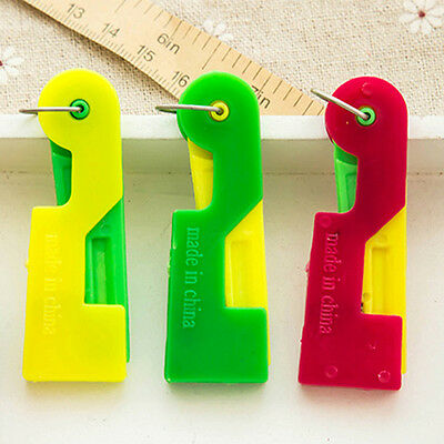 3pcs Automatic Needle Threader Helper Thread Guide Device Sewing Tool for Elders