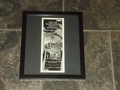 Wild Palms video releases-1994 Original advert framed