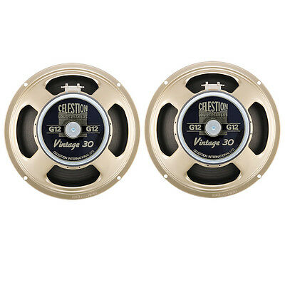 "PAIR NEW CELESTION VINTAGE 30 GUITAR SPEAKERS 12"" 16ohm"