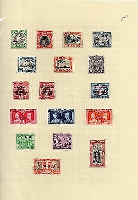 New Zealand - Niue KGVI selection on stockcard MH