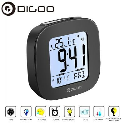 Digoo Digital Snooze LCD Alarm Clock Backlight TIME DATE Temperature Thermometer