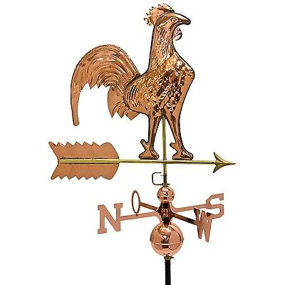 Large 3D Relief Weathercock Weather flag Wind chime from copper with Stand