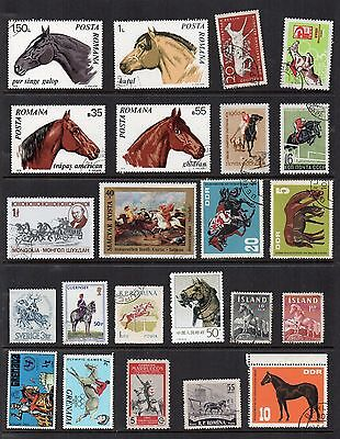 HORSES ANIMALS Thematic STAMP COLLECTION Mint Used REF:TS163