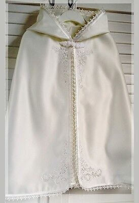 Baptizm BAPTISM Christening white ivory cream boys girls cape 6 months FCI3