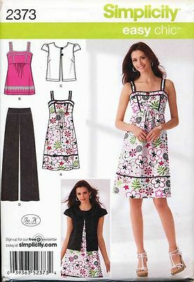 Simplicity Sewing Pattern 2373 Misses 16-24 Dress Jacket Top Pants In Plus Sizes