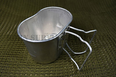 ARMY METAL MUG - Kidney Bean Surplus Canteen Water Mess Tin Cup French Military