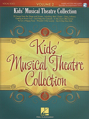 Kid's Musical Theatre Collection 2 Vocal Sheet Music Book with Audio Sing Songs