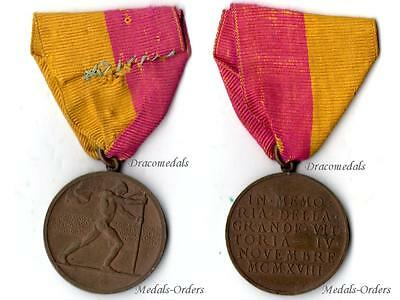 ITaly Victory Commemorative Military Medal Italian 1914 18 Decoration Great War