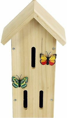 Wooden Insect Bee Butterfly House ~ Butterfly Nesting Box For Garden