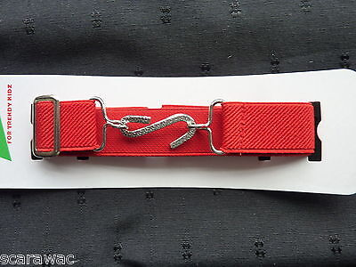 Stretchy Snake Belts/boys/girls/childrens/kids.. Red..one Size Adjusts To Fit