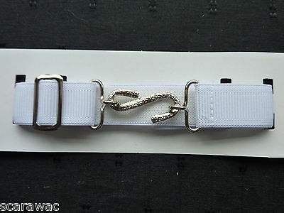 Stretchy Snake Belts/boys/girls/childrens/kids.. White..one Size Adjusts To Fit