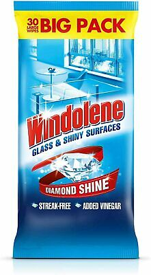 4 x Windolene Glass & Shiny Surfaces Wipes 4x15