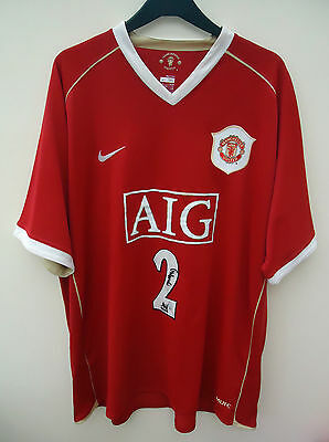 Manchester United Home Football Shirt By Nike  Signed By Garry Neville