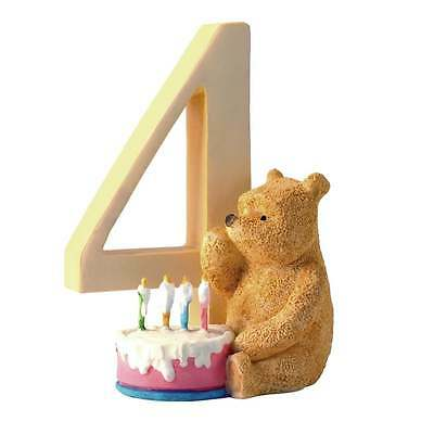 Classic Pooh Age 4 Pooh With Birthday Cake Figurine New Boxed A7167