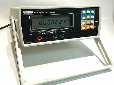 SOLARTRON 7150 6.5 DIGIT DIGITAL BENCH MULTI METER WITH LEATHER CASE       fce1a