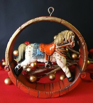 Hallmark Ornament RARE! 1976 Nostalgia Rocking Horse Value $90.00