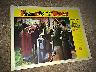 FRANCIS the Talking Mule JOINS THE WACS Movie Lobby Card Poster 1954 O'Conner