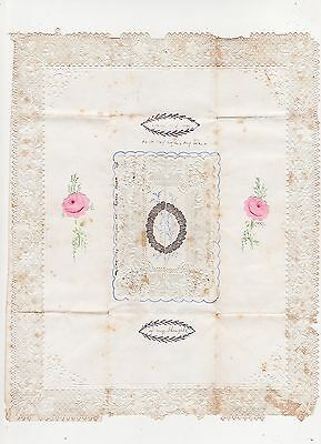 "Victorian Valentines Card, Lace Edged, ""forget Me Not"", 1847"