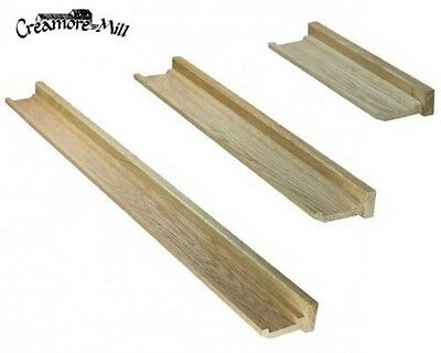 Creamore Mill Made in England Solid Oak Floating Picture Ledge Shelf, S/M/L
