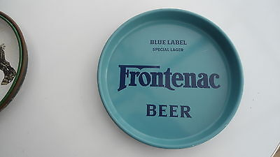 Superb Frontenac Blue Label Lager Beer Tray Brewery Quebec