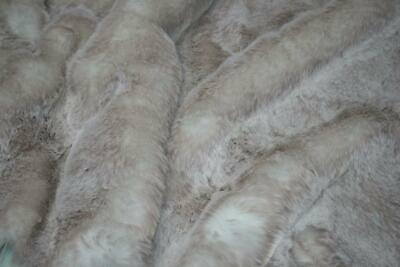 Super Luxury Faux Fur Fabric Material - SUPERSOFT BEIGE FROST