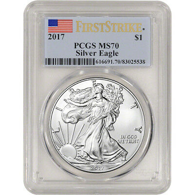 2017 American Silver Eagle - PCGS MS70 - First Strike