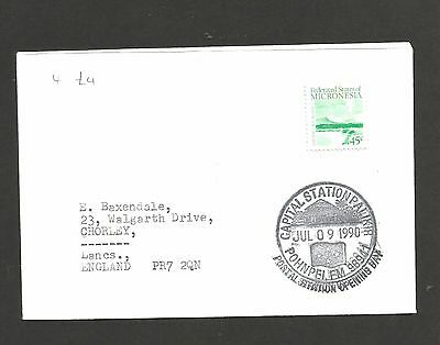 Micronesia - Capital Station Opening Day ? - Jul 09 1990 Postmark