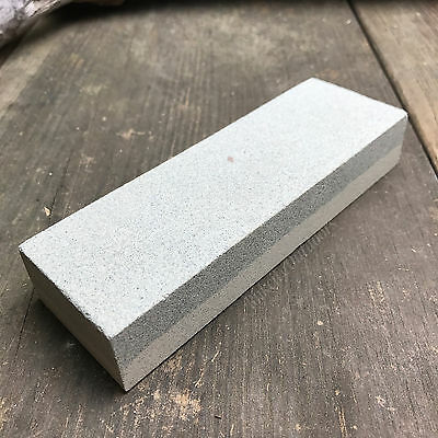 "6"" X 2"" X 1"" Sharpening Stone Aluminum Oxide Dual Grit Hone Knife Sharpener New!"