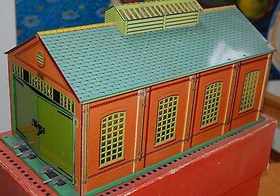 HORNBY SERIES O GAUGE No 2A DOUBLE ENGINE SHED C/W BOXED NMIB