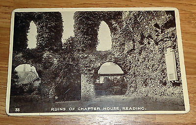 Vintage Postcard of Ruins of Chapter House, Reading marked 33
