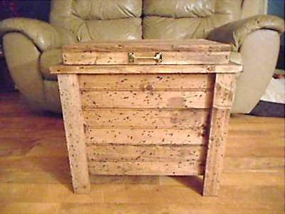 Wood Storage Ammo Box Hidden Compartment Gun Storage Rustic Hope Chest Cabinet