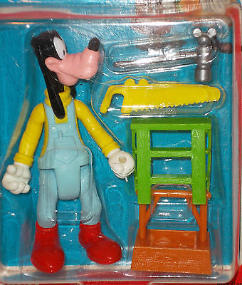 GOOFY Disney Figure Fully Poseable CARPENTER GOOFY w/ Accessories ARCO TOYS NIP