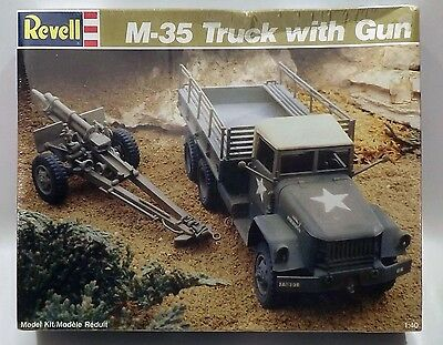 Revell 8004 M-35 Truck with Gun 1/40 Scale Plastic Model Kit 1989 Issue