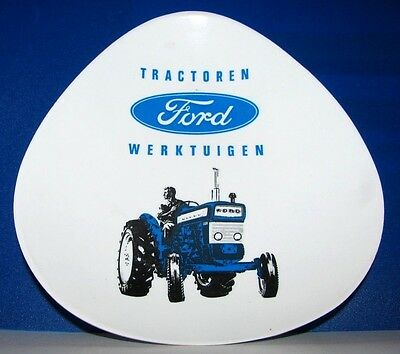 Ford Tractor Implement Equipment Advertising Ashtray Netherlands Dutch Language