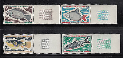 Chad 1969 Fish Sc 218-221 Complete mint never hinged